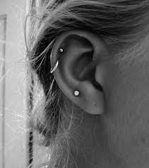 two helix piercings at the same time