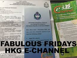 Fabulous Fridays Hong Kong Automated E Channel Registration For