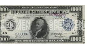 pictures of big bills 1000 5000