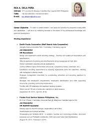 Example Of Resume Format Staruptalent Com
