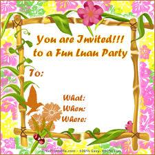Hawaiian Pool Party Invitations Free Printable Birthday Invitations Luau Download Them Or Print