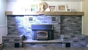 how to cover a brick fireplace covering with slate tile gorgeous designs