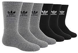 Adidas Boys Socks Size Chart Adidas Kids Boys Girls Trefoil Crew Sock 6 Pair