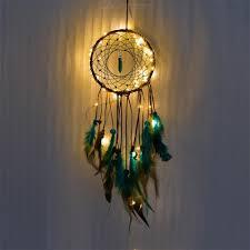 Dream Light Up Wall Decor Light Up Dream Catchers Bedroom Wall Hanging Decor Decorative Nightlight