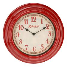 details about hometime cool retro design red plastic wall clock 30cm kitchen home