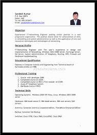 Job Resume Pattern For Job