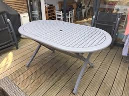 wooden outdoor furniture painted. Wooden Garden Table (painted Grey) And 4 Chairs Outdoor Furniture Painted H