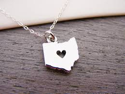 popular ohio state necklace heart cut out charm sterling silver gift for her geography pendant buckeye