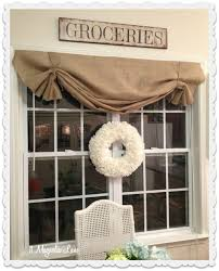 country curtains tutorial how to make a no sew diy burlap window valance