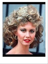 sandy grease costume wig olivianewtonjohn film blonde curly finalscene hair pinklas