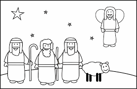Small Picture Christmas Shepherds Coloring Pages GetColoringPagescom