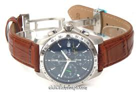 brown crocodile watch strap erfly deployant clasp tag heuer link watches