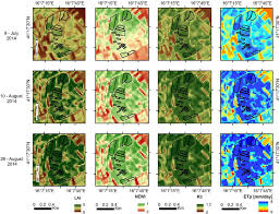 series maps an example of time series maps of lai ndvi k c and et p for the