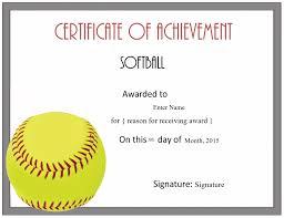 Free Softball Certificate Templates Customize Online
