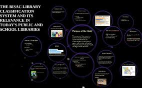 THE BISAC LIBRARY CLASSIFICATION SYSTEM AND ITS RELEVANCE IN by crystal  rhodes