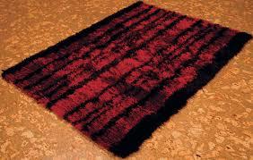 rugsville red black silk rug 11616