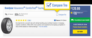 Compare New Tires Using The Tire Comparison Tool Goodyear
