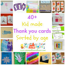 Kid Cards Kid Made Thank You Cards Sorted By Age Mum In The Madhouse