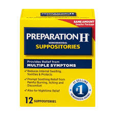 Preparation H Hemorrhoid Symptom Treatment Suppositories (12 Count ...