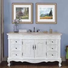 Single white bathroom vanities Single Sink 60 Ebay 60