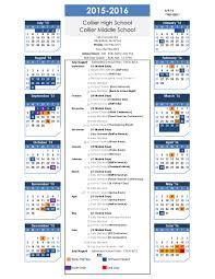 School Calendar Updated School Calendar Collier High School 22