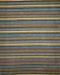 i 8234 stripe hand knotted pure wool india rug