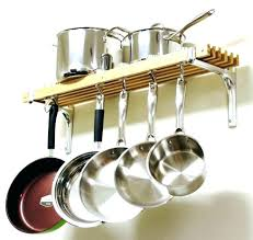 wall rack for pots and pans pot and pan hanging rack co within prepare 3 with wall rack for pots and pans
