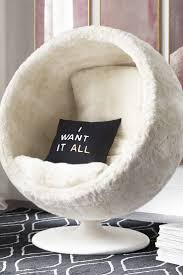 comfy chairs for bedroom teenagers. RH TEEN\u0027s Orbit Arctic White Fox Luxe Faux Fur Chair:Our Spherical, Low-to-the-ground Lounger Gives Off A Playful Interplanetary Vibe. Comfy Chairs For Bedroom Teenagers