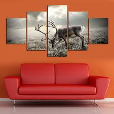 Paintings For Living Room Wall Aliexpresscom Buy Deer Paintings For Living Room Wall Animal