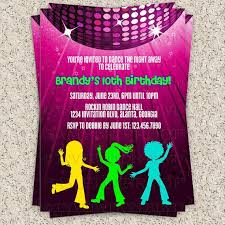 Childrens Disco Invitations Dance Party Invitation Hip Hop Dance Party By Invitationblvd