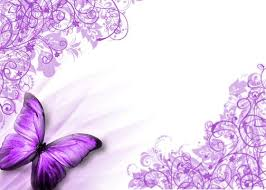 Purple Background Design Butterfly Border Purple Butterfly Background By