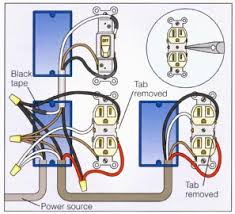 wire an outlet how to wire a duplex receptacle in a variety of switched outlets wiring diagram