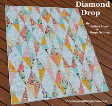 Happy Quilting: Diamond Drop Quilt - A Finish and Tutorial & Diamond Drop Quilt - A Finish and Tutorial Adamdwight.com