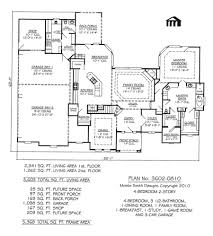 3 Bedroom 2 Bath 2 Car Garage Floor Plans Lovely 1 Story House Plans With 4