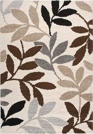 Leaf Pattern Area Rugs