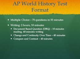 how to write the compare and contrast essay ppt ap world history test format