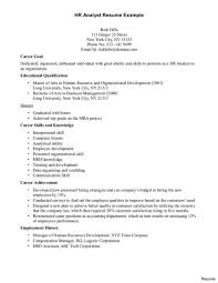 Resume Examples No Experience Resume Sample Hr Toreto Co Human Resource Example No Experience 100