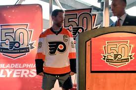 flyers numbers flyers unveil 50th anniversary season jersey featuring a lot of