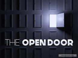 image for service background the open door
