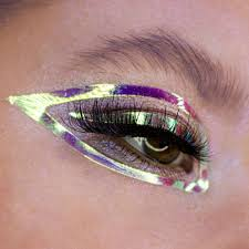 Eye Makeup Sticker Designs Face_lace Dazzliner Holographic Face Stickers And Makeup
