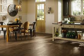 Wood Floor In Kitchen Pros And Cons Interior Grey Rustic Varnished Maple Laminate Floor Anda Brown