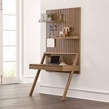 batten wall mounted desk office set