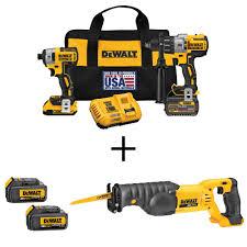 dewalt cordless tools. this review is from:flexvolt 60-volt and 20-volt max lithium-ion cordless brushless combo kit (2-tool) bonus recip saw (2) batteries. dewalt tools r