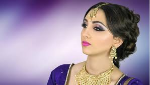 wedding makeup s lovely asian stani indian bridal tutorial purple smokey