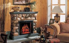 ... Fascinating Images Of Living Room Decoration Using Various Stone  Fireplace : Stunning Image Of Rustic Living ...