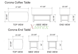 Coffee Table Dimensions Standard Living Rooms Image