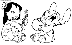 Small Picture Unique Lilo And Stitch Coloring Pages 96 In Line Drawings with