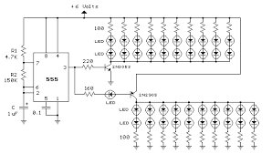 led strobe light circuit diagram info 41 led flasher circuit using 555 ic 4 steps wiring circuit