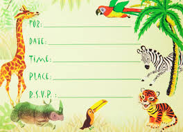 Jungle Theme Birthday Invitations Dolce Mia Jungle Animals Safari Birthday Party Invitations Party Pack 8 Cards