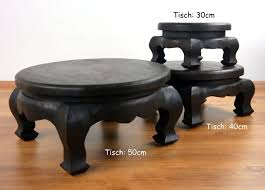 small asian opium table round coffee table plant